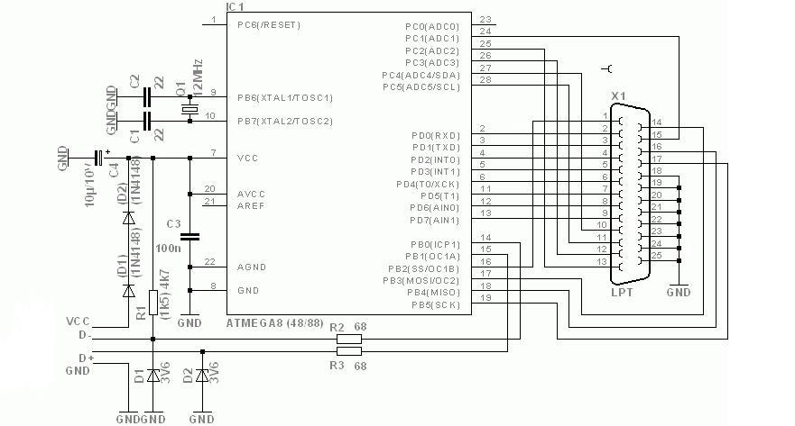 Схема переходника ide 2.5 на usb